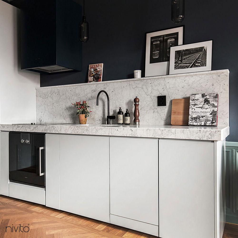 Black Kitchen Sink Mixer Tap - Nivito RH-120
