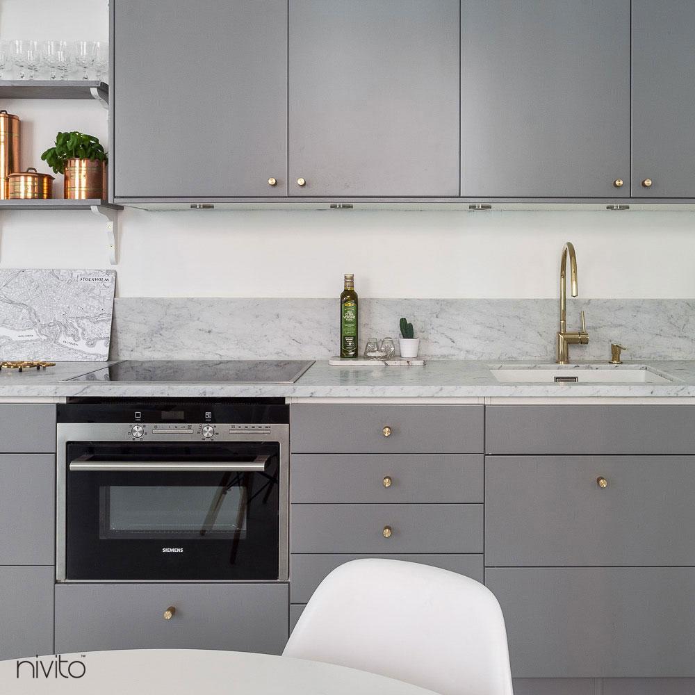 Brass/Gold Kitchen Sink Mixer Tap - Nivito RH-160