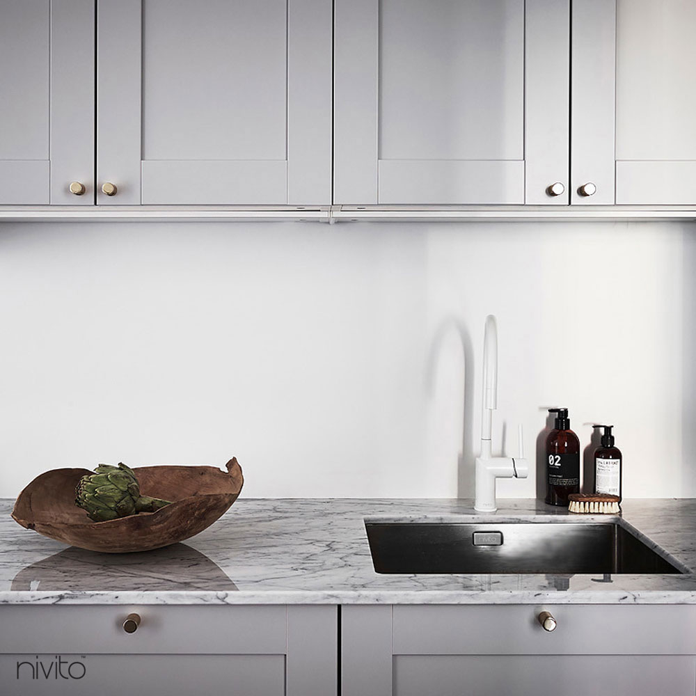 White kitchen water tap