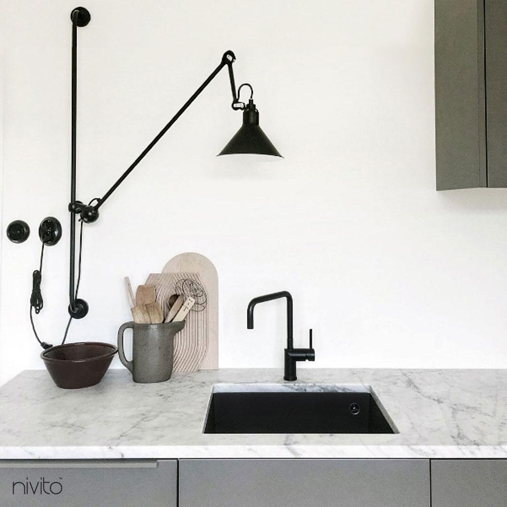 Kitchen tapware tap black