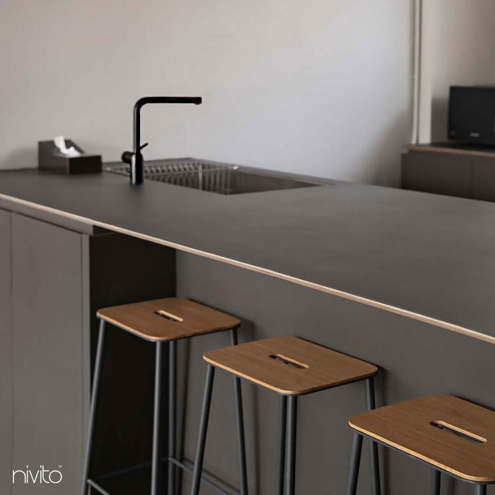 Black Kitchen Mixer Tap Pullout hose - Nivito RH-620-EX