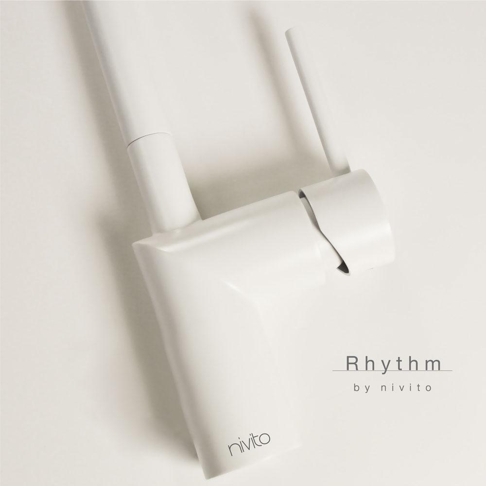 White Kitchen Mixer Tap - Nivito RH-330