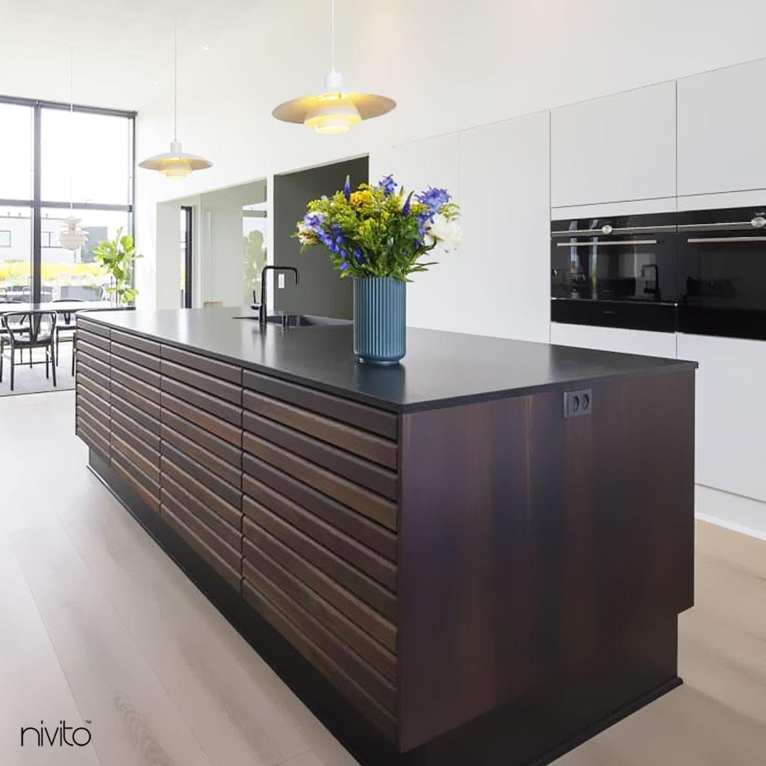 Black Kitchen Mixer Tap - Nivito RH-320