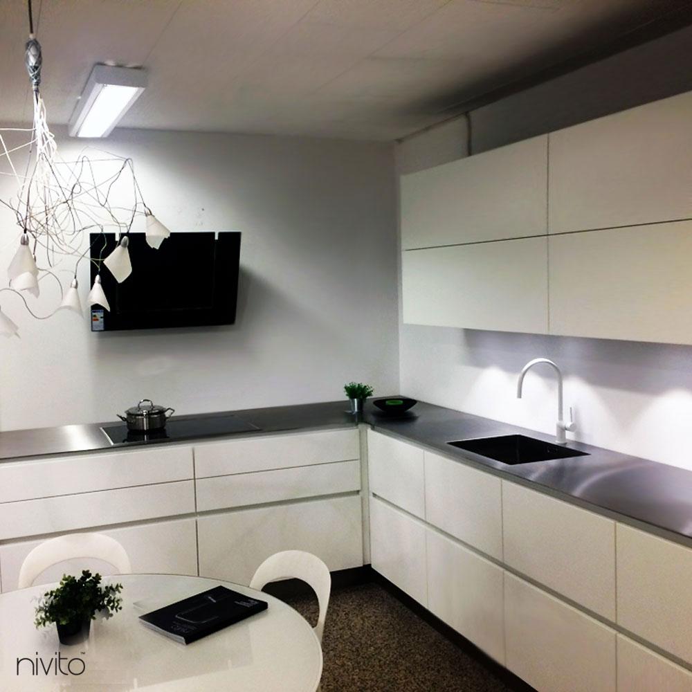 White Kitchen Tap - Nivito RH-130