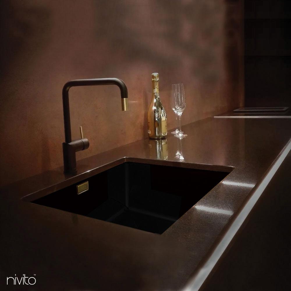 Brass/Gold Tap Black/Gold/Brass - Nivito RH-340-BISTRO