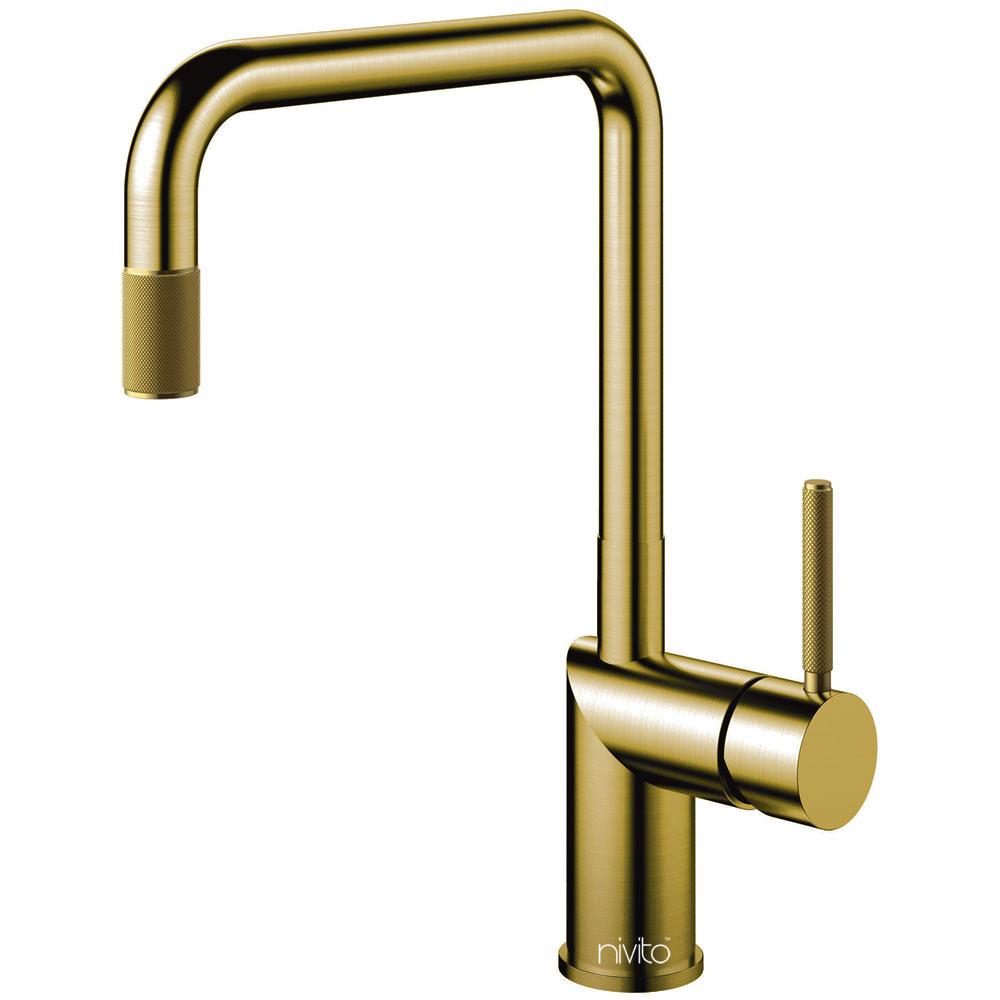 Brass/Gold Kitchen Mixer Tap - Nivito RH-340-IN
