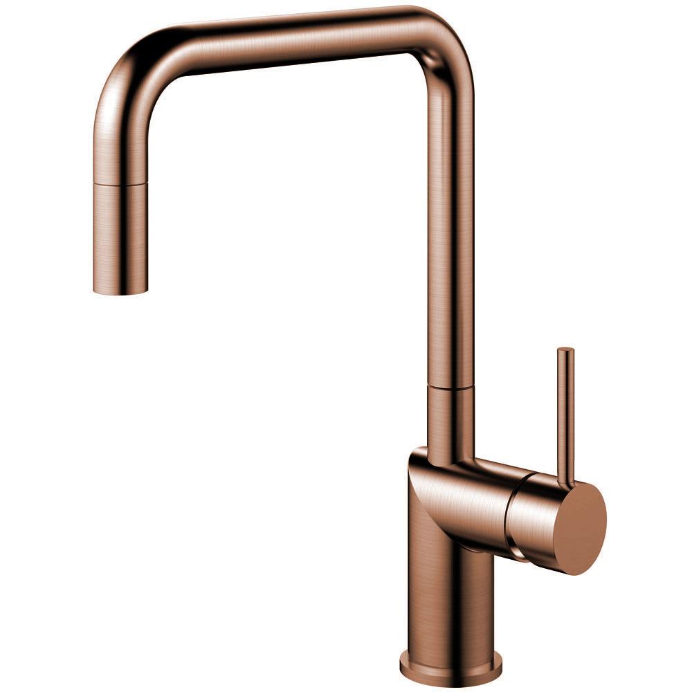 Copper Kitchen Mixer Tap Pullout hose - Nivito RH-350-EX