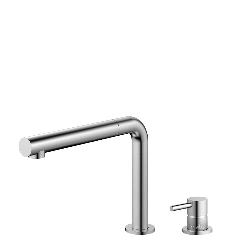 Stainless Steel Kitchen Tap Pullout hose / Seperated Body/Pipe - Nivito RH-600-VI