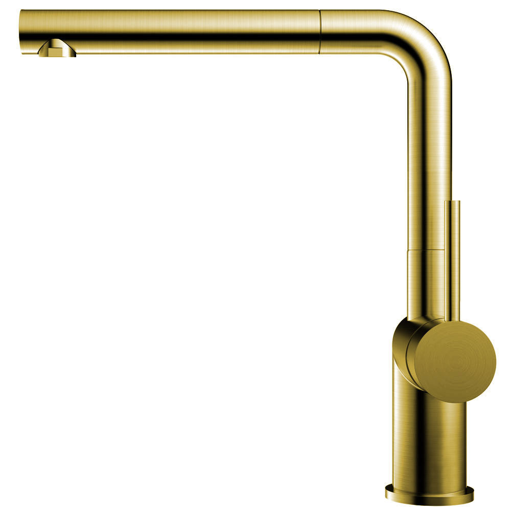 Brass/Gold Kitchen Tap Pullout hose - Nivito RH-640-EX