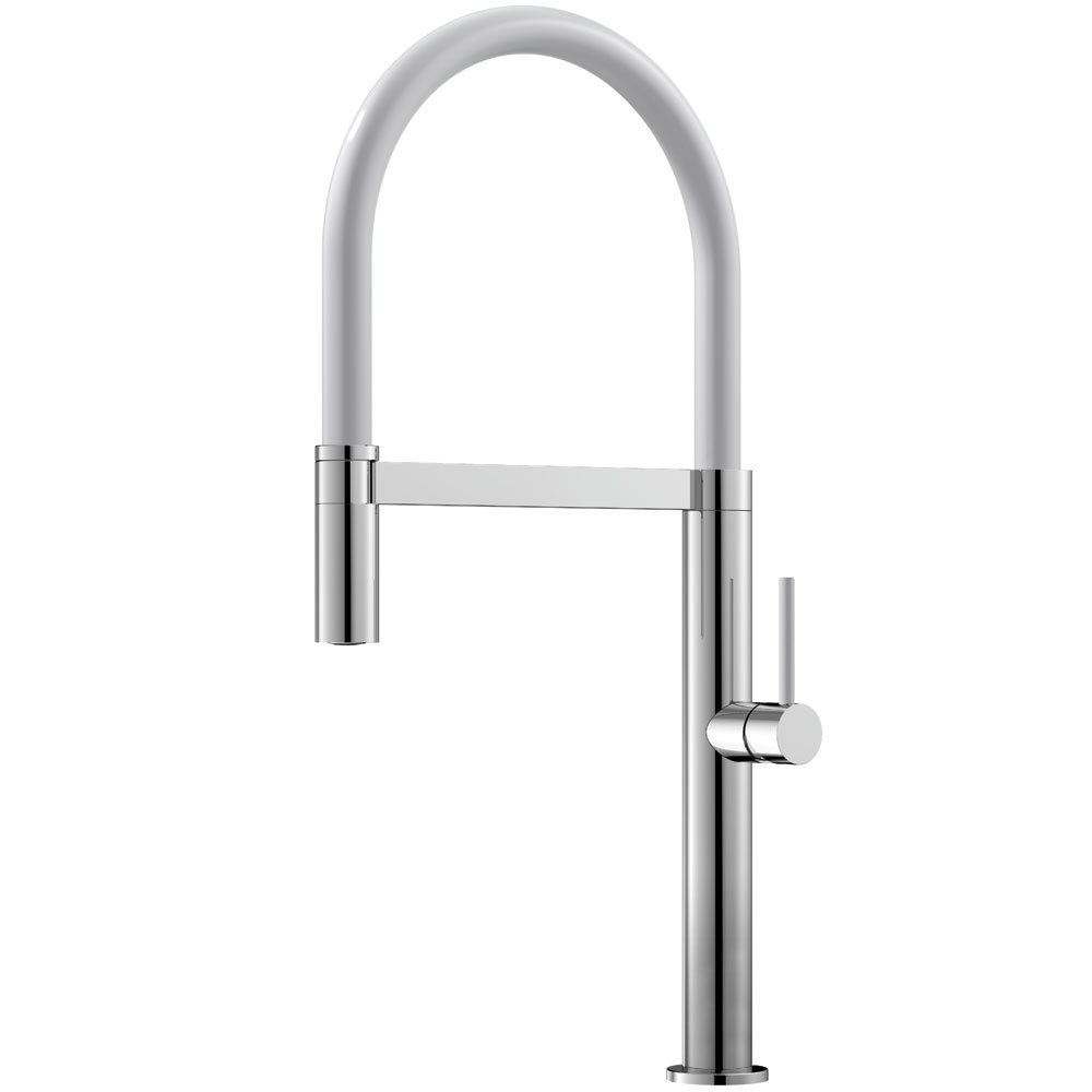 Kitchen Mixer Tap Pullout hose / Polished/White - Nivito SH-310