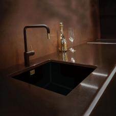 Black Kitchen Sink - Nivito CU-500-GR-BL