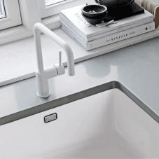 White Kitchen Sink - Nivito CU-500-GR-WH