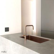 Copper Kitchen Mixer Tap Pullout hose - Nivito 1-RH-350-EX