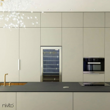 Brass/Gold Kitchen Mixer Tap Pullout hose / Seperated Body/Pipe - Nivito 10-RH-140-VI