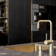 Brass/Gold Kitchen Mixer Tap Pullout hose - Nivito 10-RH-340-EX