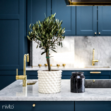 Brass/Gold Kitchen Mixer Tap - Nivito 10-RH-360
