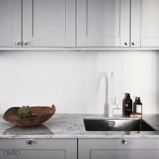 White kitchen water tap