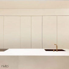 Brass/Gold Kitchen Mixer Tap Pullout hose / Seperated Body/Pipe - Nivito 11-RH-140-VI
