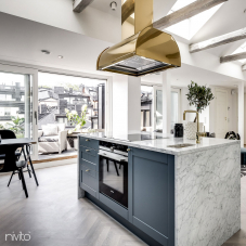 Brass/Gold Kitchen Mixer Tap - Nivito 12-RH-360