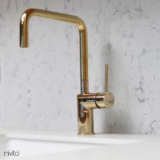 Brass/Gold Kitchen Mixer Tap - Nivito 15-RH-360