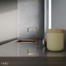 Brass/Gold Kitchen Mixer Tap - Nivito 17-RH-360