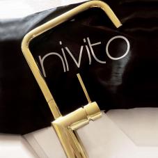 Brass/Gold Kitchen Mixer Tap - Nivito 19-RH-360