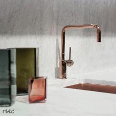 Copper Kitchen Sink - Nivito CU-180-BC