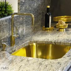 Brass/Gold Kitchen Mixer Tap - Nivito 20-RH-360