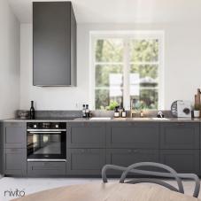 Brass/Gold Kitchen Mixer Tap - Nivito 22-RH-360