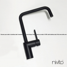 Black Kitchen Mixer Tap - Nivito 23-RH-320