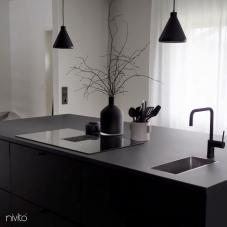 Black Kitchen Mixer Tap - Nivito 24-RH-320