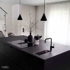 Black Kitchen Mixer Tap - Nivito 25-RH-320