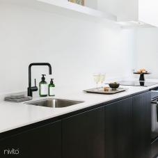 Black Kitchen Mixer Tap - Nivito 26-RH-320