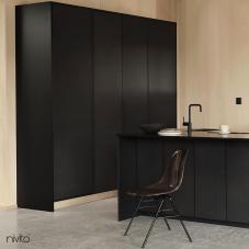 Black Kitchen Mixer Tap - Nivito 27-RH-320
