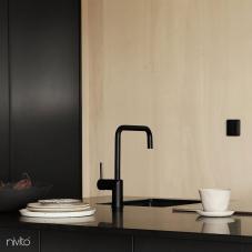 Black Kitchen Mixer Tap - Nivito 28-RH-320