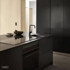 Black Kitchen Mixer Tap - Nivito 29-RH-320