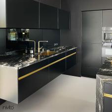 Brass/Gold Kitchen Mixer Tap Pullout hose - Nivito RH-640-EX