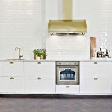 Brass/Gold Kitchen Mixer Tap - Nivito 3-CL-160