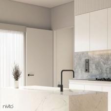 Black Kitchen Mixer Tap - Nivito 30-RH-320