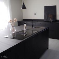 Black Kitchen Mixer Tap - Nivito 31-RH-320