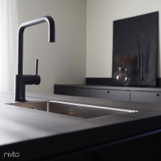 Black Kitchen Mixer Tap - Nivito 32-RH-320