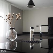 Black Kitchen Mixer Tap - Nivito 33-RH-320