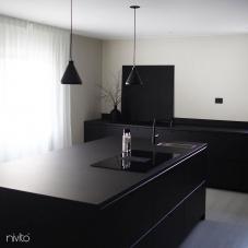 Black Kitchen Mixer Tap - Nivito 34-RH-320