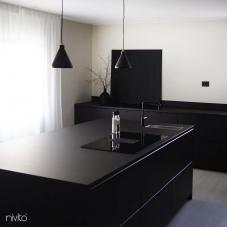 Black Kitchen Mixer Tap - Nivito 36-RH-320