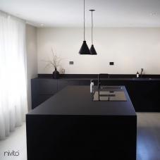 Black Kitchen Mixer Tap - Nivito 37-RH-320