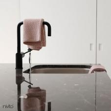 Black Kitchen Mixer Tap - Nivito 38-RH-320