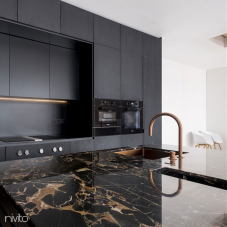 Brass/Gold Kitchen Mixer Tap Pullout hose / Seperated Body/Pipe - Nivito 4-RH-140-VI