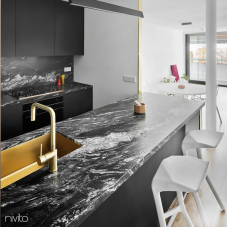 Brass/Gold Kitchen Mixer Tap - Nivito 4-RH-340