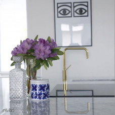 Brass/Gold Kitchen Mixer Tap - Nivito 4-RH-360