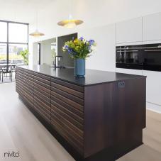 Black Kitchen Mixer Tap - Nivito 40-RH-320